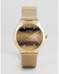 Sekonda - Gold Mesh Watch With Tigers Dial Exclusive To Asos - Lyst