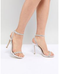 New Look - Heatseal Barely There High Heeled Sandal - Lyst