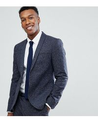 Noak - Skinny Suit Jacket In Polka Dot Fleck - Lyst