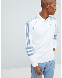 adidas Originals - Authentic Rugby Top In White Dh3844 - Lyst