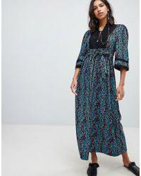 Sabina Musayev - Deep Forest Print Maxi Dress - Lyst