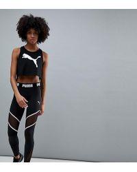 PUMA - Exclusive To Asos Mesh Panel Legging In Black - Lyst