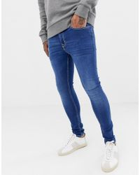 New Look - Superskinny Jeans In Blauwe Wassing - Lyst