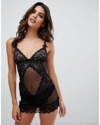 4a25d98f60 Ann Summers - Sexy Lace Chemise In Black - Lyst