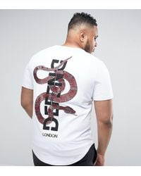 Defend London - Plus T-shirt With Back Snake Embroidery - Lyst