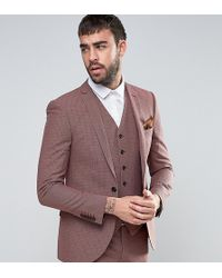 Heart & Dagger - Super Skinny Suit Jacket In Summer Dogstooth - Lyst