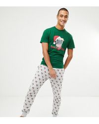 New Look - Holidays Pyjama Set With Humpug Print In Green - Lyst