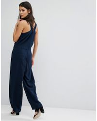 SELECTED - Cross Back Jumpsuit - Lyst