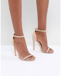 Truffle Collection - Barely There Heel Sandal - Lyst