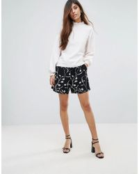 SELECTED - Printed Shorts - Lyst