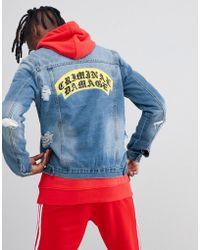 Criminal Damage - Crest Ripped Denim Back Logo Jacket - Lyst