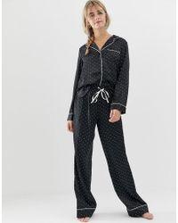 ASOS - Satin Spot Pyjama Trouser - Lyst
