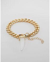 Ashiana - Chain Bracelet With Crystal - Lyst