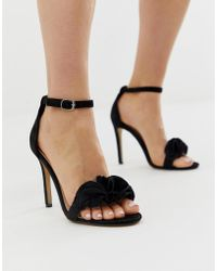 Glamorous - Chunky Heeled Sandal With Frill - Lyst
