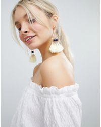 South Beach - Gold Tassel Drop Statement Earrings () - Lyst