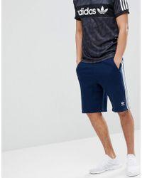 adidas Originals - Adicolor 3 Stripe Shorts In Navy Cw2438 - Lyst