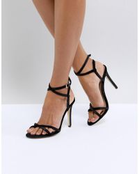 Call It Spring - Fiven Strappy Barely There Heeled Sandals - Lyst