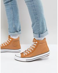 Converse - Chuck Taylor All Star Street Trainer Boots In Tan 157494c237 - Lyst