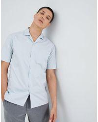 For Love & Lemons - Bowling Shirt In Blue - Lyst