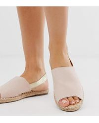 Truffle Collection - Wide Fit Espadrille Slingback Sandals - Lyst