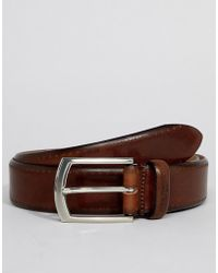 Ted Baker - Lillies Brogue Belt In Burnished Leather - Lyst