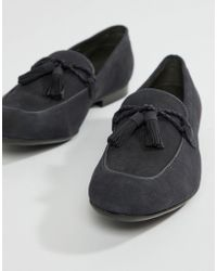 Dune - Tassel Loafers In Navy Suede - Lyst