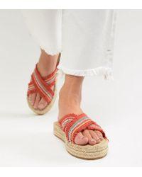 London Rebel - Flatform Espadrille Sandals - Lyst
