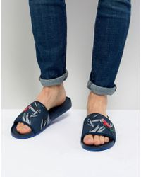 Ted Baker - Sauldi 2 Sliders In Navy - Lyst