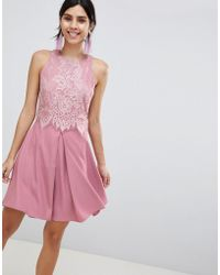 Little Mistress - Lace Skater Dress - Lyst