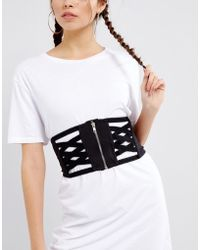 ASOS - Cross Over Caged Waspie - Lyst