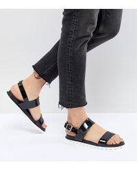 London Rebel - Jelly Flat Sandals - Lyst