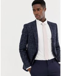 Moss Bros - Moss London Skinny Blazer In Speckled Check - Lyst