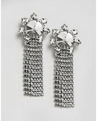 ASOS - Sunburst Jewel Drop Earrings - Lyst