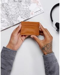 Forbes & Lewis - Leather Card Holder In Tan - Lyst