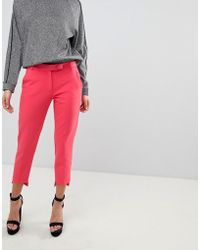 River Island - Stepped Hem Cigarette Pants - Lyst