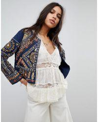Raga - Arwen Embroidered Velvet Trophy Jacket - Lyst