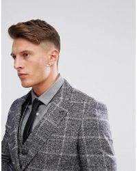 Moss Bros - Moss London Skinny Suit Jacket In Fleck Check - Lyst