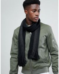 French Connection - Black Scarf - Lyst