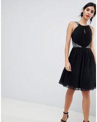 Little Mistress - Keyhole Jewel Prom Dress - Lyst
