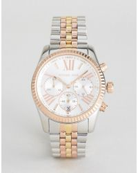 Michael Kors - Mk5735 Lexington Bracelet Watch In Mixed Metal - Lyst