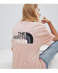 The North Face - Exclusive To Asos Easy T-shirt In Pink - Lyst