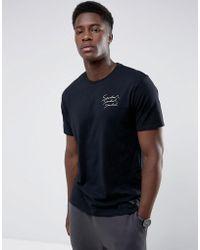 Mango - Man Neutral Print T-shirt In Black - Lyst