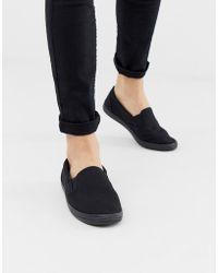 ASOS Zapatillas de lona sin cierres en negro
