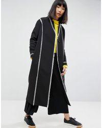 ASOS - Frayed Seam Overcoat - Lyst