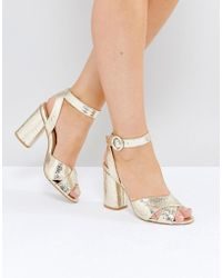 Truffle Collection - Block Heel Sandal - Lyst