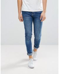 Stradivarius - Skinny Jeans In Mid Wash - Lyst