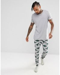 ASOS - Pyjama Bottoms With Branded Waistband & Dinosaur Print - Lyst