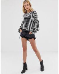 One Teaspoon - Pantalones cortos de talle bajo y corte holgado con bajo desgastado Rollers - Lyst