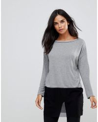 Wal-G - Knit Top With Mesh Trim - Lyst