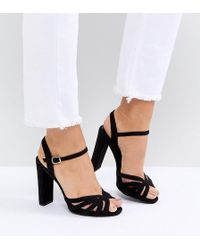 New Look - Suedette Platform Strappy Sandals - Lyst